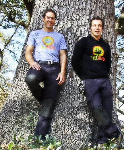 Dorian Davey and Jackson McIntosh - Treewaver Arborists in Austin